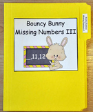 """File Folder Game--""""Bouncy Bunny:  Fill in the Missing Number III"""""""