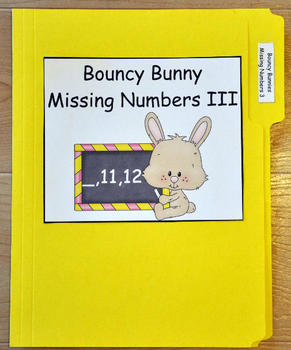 "File Folder Game--""Bouncy Bunny:  Fill in the Missing Number III"""