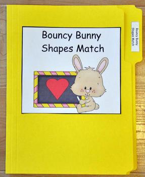 "File Folder Game ""Bouncy Bunny Shapes Match"""