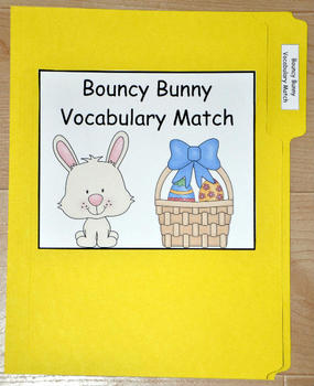 "File Folder Game ""Bouncy Bunny Vocabulary Match"""