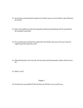Bound by Donna Jo Napoli Comprehension Questions