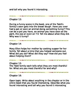 Bound for Oregon Journal Reflection Questions