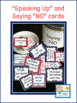 Boundary Setting: Saying NO Politely Scripted Cards for Se