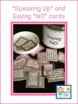 Boundary Setting: Saying NO Politely Scripted Cards 4 Self Esteem; Pink