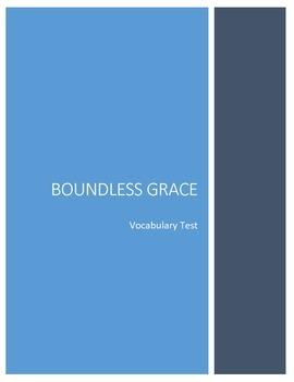 Boundless Grace Vocabulary Test