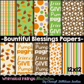 Bountiful Blessings Paper Set