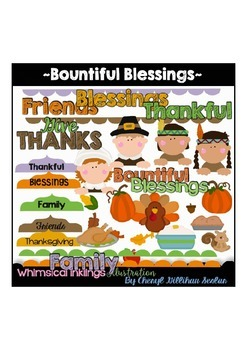 Bountiful Blessings~Thanksgiving Clipart Collection