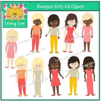 Bouquet Girls CU Clipart