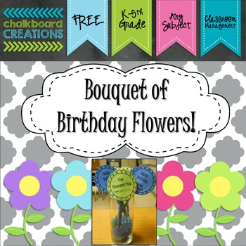 FREE Bouquet of Birthday Flowers