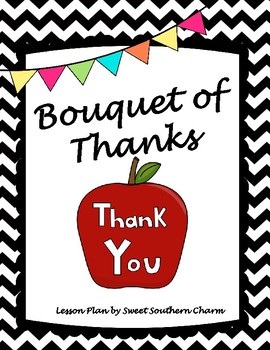 Bouquet of Thanks Art Lesson Plan by Sweet Southern Charm