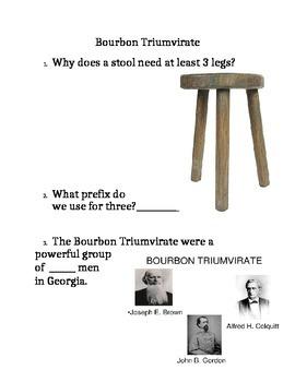 Georgia Studies Bourbon Triumvirate Warm-up