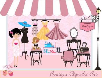Boutique Girl Clipart Set
