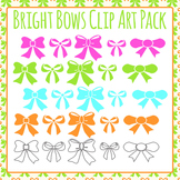 Bow Decorations / Ornaments Clip Art Pack for Commercial Use