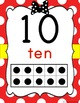Bow & Polka Dot Number Line Posters  0-20