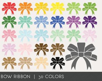 Bow Ribbon Digital Clipart, Bow Ribbon Graphics, Bow Ribbon PNG