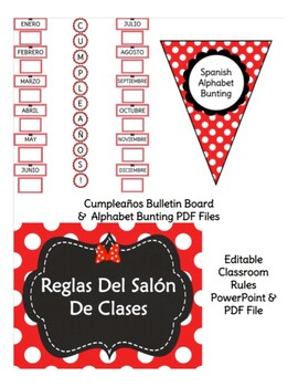 Bow Themed Back to School Spanish Teacher Bundle FREE UPDATES FOR LIFE!