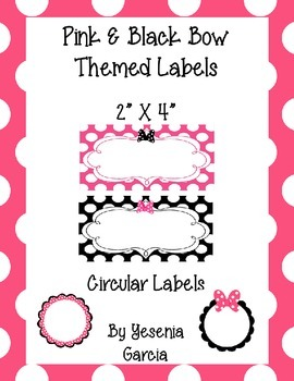 Bow Themed Labels (Editable)