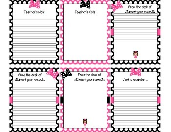 Bow Themed Stationary (Editable)