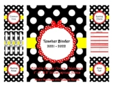 Red Bow Teacher Binder 2017-2018 (Covers, Spines, Forms &