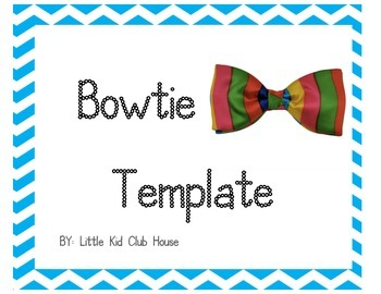 Bow Tie / Hair Bow Template