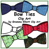 Bow Ties Clip Art - Realistic Images with color and texture