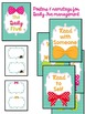 Bow Ties and Hair Bows Classroom Decoration Set