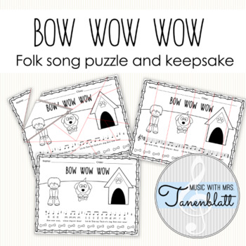 Bow Wow Wow Folk Song Puzzle and Keepsake