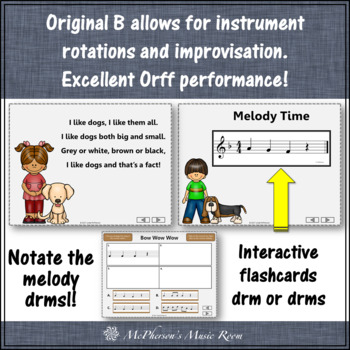 Bow Wow Wow: Orff, Instruments, Rhythm, Composition, Melody and Movement