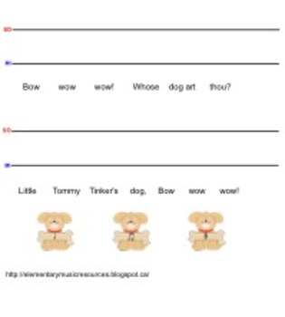 Bow Wow Wow: Rhythmic Notation and So-Mi