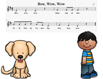 Bow Wow Wow (a song to teach quarter rest)