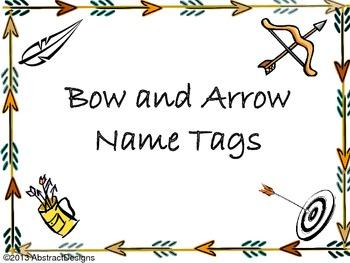 Bow and Arrow Name Tags