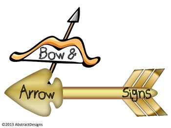Bow and Arrow Signs