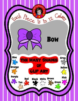 Bow in 12 shades to accent your curriculum ~ free Clip Art