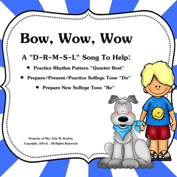 "Bow,Wow,Wow: Practice Ta Rest-Prep./Present New Note ""Do"" - SM NTBK Ed."