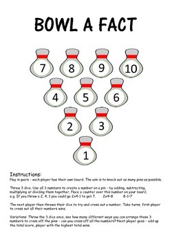 Bowl a Fact - Basic Facts Maths Game