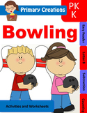 Sports - Bowling Preschool, PreK and Kinder Literacty and