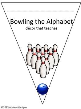 Bowling Alphabet Pennants