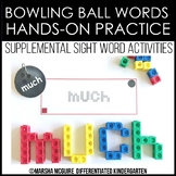 Bowling Ball Ball Words - Sight Word Fine Motor Practice