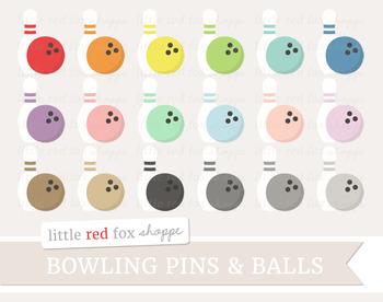 Bowling Ball & Pin Clipart; Sports, Equipment