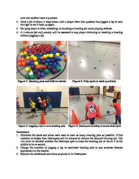 Bowling Bombs II Teamwork Activity for Physical Education