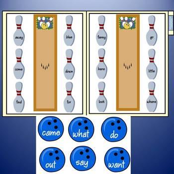 Sight Word File Folder Games: Bowling Bonanza