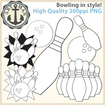 Bowling Clipart {Anchor Art Man}
