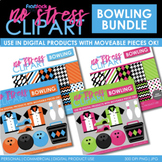 Bowling Clipart Plus Digital Papers BUNDLE