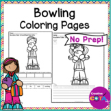 Bowling Coloring Page Worksheets