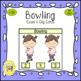 Bowling Clip Task Cards