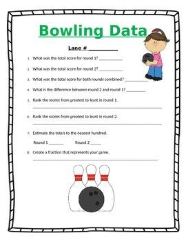 Bowling Field Trip Data Sheet
