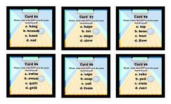 Bowling Game - Assessment Alley (Word Sounds)