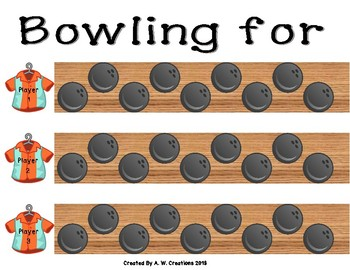Bowling Game - Bowling for Author's Purpose