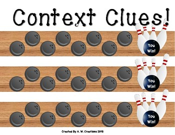 Bowling Game - Bowling for Context Clues