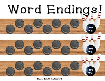 Bowling Game - Bowling for Word Endings